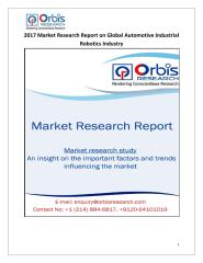 2017 Market Research Report on Global Automotive Industrial Robotics Industry.pdf