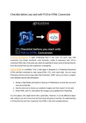 Checklist before you start with PSD to HTML Conversion.pdf