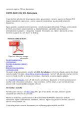 Info convertem arquivos PDF em documentos.doc