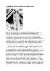 İngiliz Ajanı Gertrude Bell ve Irak'ın Kuruluşu.doc