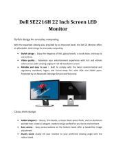 Dell 22 Inch LED Monitor.pdf