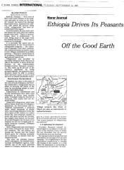 Ethiopia Drives Its Peasants Off the Good Earth - Perlez.pdf