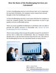 How the Rates of the Bookkeeping Services are Calculated .pdf