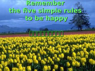 5 Rules in Life.pps