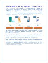 Vendita Online Farmaci Mal D'orecchio A Prezzi in Offerta.docx
