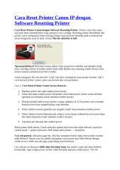 Cara Reset Printer Canon IP dengan Software Resetting Printer.doc