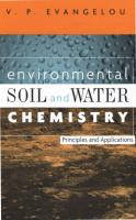 ENVIRONMENTAL SOIL and water chemistry.pdf