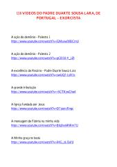 118 vídeos do Padre Duarte Sousa Lara - Exorcista.pdf